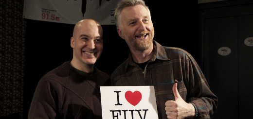 Eric Holland with Billy Bragg