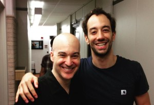 Albert Hammond Jr. with Eric at WFUV